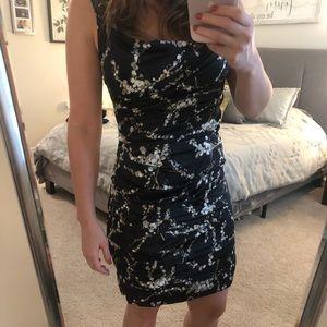 Express Dresses - Express Black Floral Formal Dress